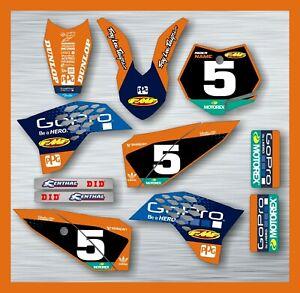 KTM SX 50 GRAPHICS KIT STICKER KIT DECAL SET 2009 - 2015 rider name race #