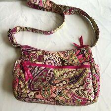Vera Bradley Very Berry Paisley Shoulder Bag Purse Tote