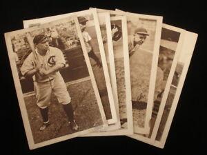 Lot of 7 Original 1930's Chicago Cubs 6x9 Photos w/ Hack Wilson & Pepper Martin