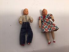 """1930""""s Caco Brother & Sister Dolls"""