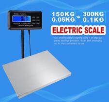 Edelstahl Paketwaage Plattformwaage Bodenwagge Tischwaage max. 300kg LCD-Display