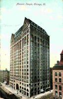 Masonic Temple Street View Chicago IL Illinois 1900's Undivided Back Postcard