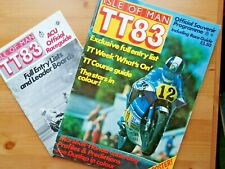 ISLE OF MAN TT 1983 Programme with RACE GUIDE