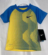 NIKE Infant Boys Dri-Fit Stay Cool T-shirt Size 18 Month Blue/Yellow  NWT