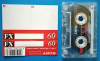 MC Musicassetta SONY FX 60 vintage compact cassette audio tape USATA no°basf°tdk
