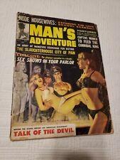 Man's  Adventure Magazine, 1964 Nov, Nazi, torture, GGA, pulp, bondage