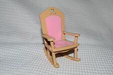 Fisher Price Loving Family Dollhouse Pink & Brown Rocking Chair