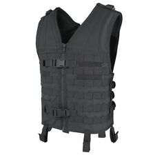 Condor MV BLACK Modular Style Vest MOLLE Chest Rig Map Utility Pocket