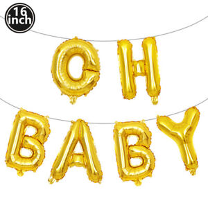 16 Inch Gold Silver Letter Balloon Set Baby Shower Birthday Party Decoration