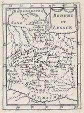 1683 Czech Republic Lusatia Bohemia 17th Century Copper Plate Map Mallet