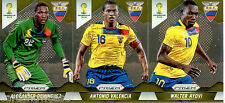 2014 Brasil FIFA World Cup Soccer Prism Card Base Team Set Ecuador (3)