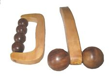 Wooden All Body Massage Roller Combo Pack Set of 2 High Quality + Beautiful. USA
