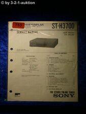Sony Service Manual ST H3700 Tuner  (#0753)