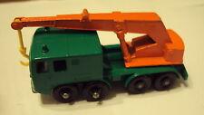 Vtg Matchbox 1965 # 30 8 Wheel Crane Truck - Yellow Hook - BPW - England