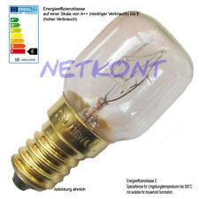 2x Glühbirne, Glühlampe 15W, E14, 230V Mikrowelle, Birne für Herd Glasklar