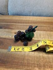 Vtg PURPLE GRAPES WITH LEAF CLUSTER HAND-BLOWN glass GUC 😊FAST SHIP 😊