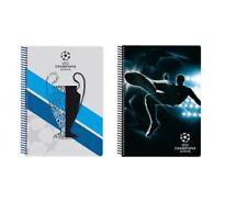 UEFA Champions League lot de 2 cahiers à spirale 25 cm 55 feuilles 393249
