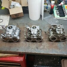 Weber 40 Dcoe Carburetors and linkage 3 pack Lotus Elan Triumph and other