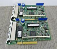 2 x 634025-001 HP 331FLR Quad Port PCI-E Gigabit Ethernet Network Adapter Card