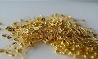 20 petite épingle à nourrice et de sureté doré 22 mm env. couture mercerie neuf