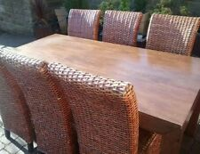 Rattan Modern Table & Chair Sets 7 Pieces