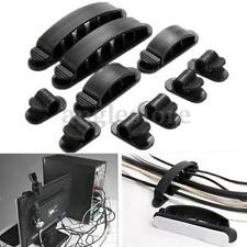 10Pc Plastic Wire Cable Cord USB Line Organizer Clips Ties Fixer Fastener Holder