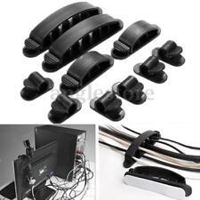 10Pc Plastic Wire Cable Cord USB Line Organizer Clips Ties Fixer Fastener Holder