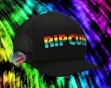 New Rip Curl Black Rainbow Big Mama Trucker Snapback Cap Hat