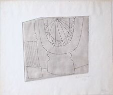 *** Ben Nicholson *** 1967 *** Turkish sundial Column and Tree *** 35/50 ** orig