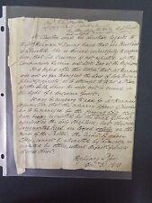 Rev. John Clayton - 1813 - Signed letter- Conservative Minister-clergy