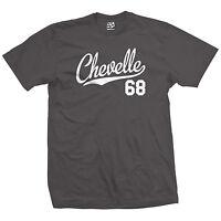 Chevelle 68 Script Tail Shirt - 1968 Classic Muscle Race Car - All Size & Colors