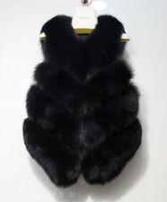 100% Real Natural Fox Fur Vest Luxury Women Gilet Whole Fox Fur Waistcoat