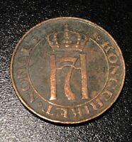 1908 Norway Haakon VII 5 Ore Rare Key Date Coin