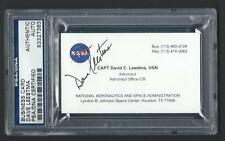 Dave Leestma signed Nasa Business card Psa/Dna slabbed Astronaut