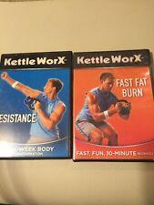 TWO KETTLEWORX - RESISTANCE Six-Week Body Transformation + Fat Burn Workouts DVD