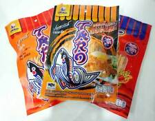 Fish Snack Food Low fat Hot Chilli Bar-B-Q SpicyFlavored Delicious Healthy 3x30g