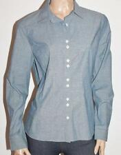 COLORADO Designer Blue Chambray Long Sleeve Shirt Top Size L BNWT #TB90