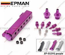 Epman Racing Universal vacío colector Kit Morado Para Boost Gauge válvula de descarga