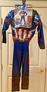 NEW Marvel Avengers Endgame Captain America Costume Medium 8-10