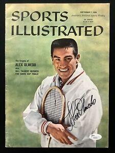 Alex Olmedo Signed Sports Illustrated 9/7/59 No Label Tennis Davis Cup Auto JSA