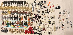 ~Vintage Big Lego Star Wars Mini figures Droids Weapons Partials and Parts Lot~