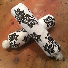 Black & White Floral Plastic Bag Dispensers/Holders, Hand Made, 50cm x 40cm