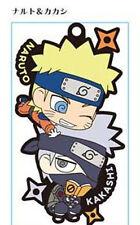 Naruto Naruto and Kakashi Pair Rubber Phone Strap NEW