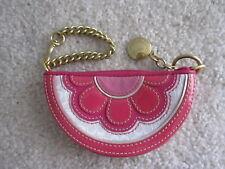 Coach Poppy Watermelon Signature Patent leather Case Wallet Wristlet Purse Bag