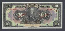 Venezuela Banco Comercial De Maracabo 10 Bolivares 1929 PS176 Specimen UNC