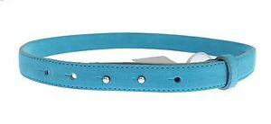 NEW $150 EULALIA B Belt Buckle Blue Leather Waist Womens s. S / 70cm / 28in