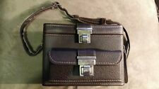 Old vintage large camera case bag accessory , maybe leather? Snap lock closures