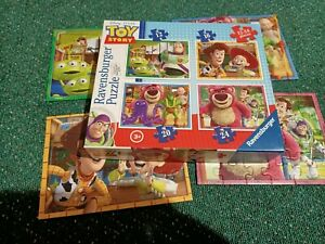 Disney Toy Story Ravens burger Jigsaw Puzzle 4 In Box 12 - 24 Pieces No 071081