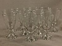 Clear (10) Glass Anchor Hocking Etched Bubble Boopie Juice/Sherry Glasses