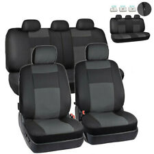 Universal 5 Seats Car Seat Covers Black Artificial Leather Cushion For 4-Seasons